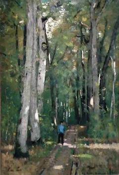 Paál László: Út a fontainebleau-i erdőben (1875)